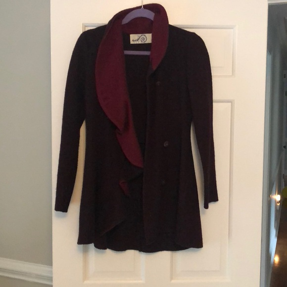 3c06113fe2c332 Anthropologie Jackets & Coats | Rosie Neim Wool Sweater Coat Xs ...